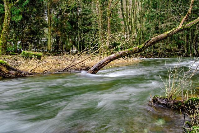 tekoucí řeka
