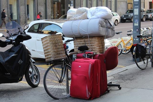 stěhování pomocí kola